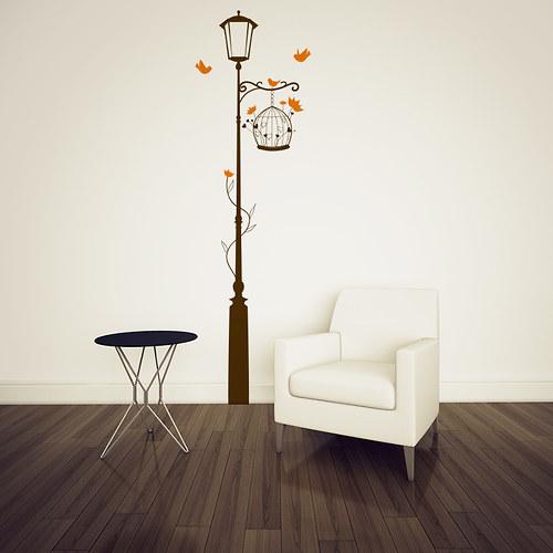 Pod lampou (400x1850) - samolepka na zeď