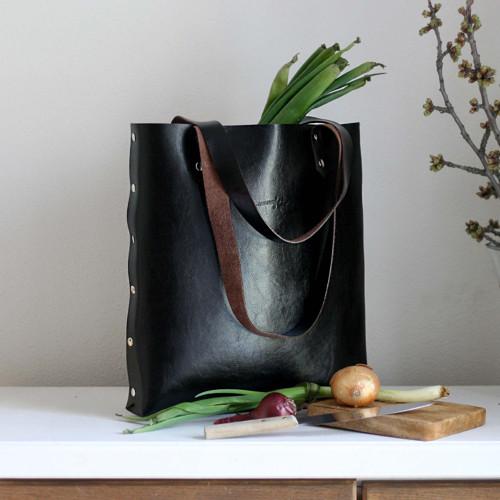 Kožená kabelka Sue (big bag tmavohnedá)
