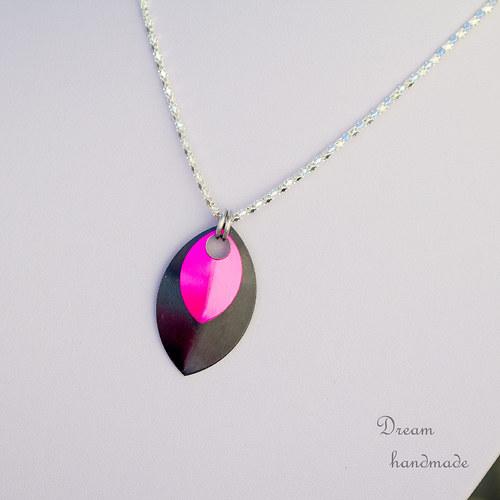 Přívěsek Double - black and pink