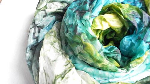 Šál tyrkys-green,velký,180x90 cm