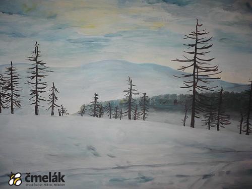 Krajina pod sněhem (50 Kč na nový prales, Ještěd)