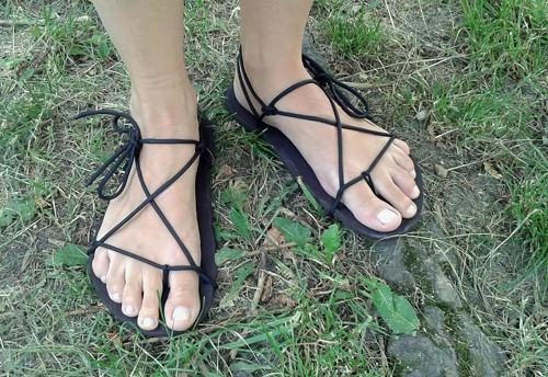 Barefoot sandálky Huarache na míru, různé varianty