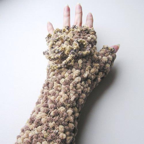 Cappucino rukavice - bezprsťáky