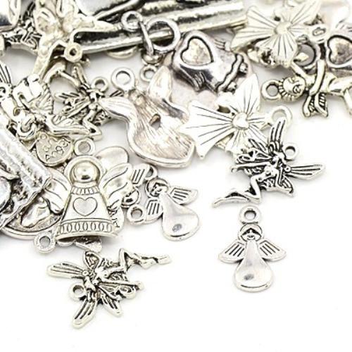 Andělé a víly -  antické stříbro mix
