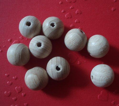 Dřevěné perle přírodní