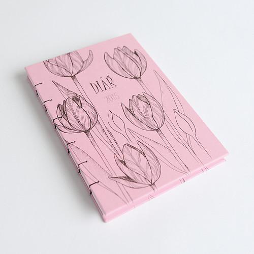 Tulipánový diář 2019 (světle růžový)