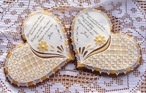 Svatební děkovací srdce