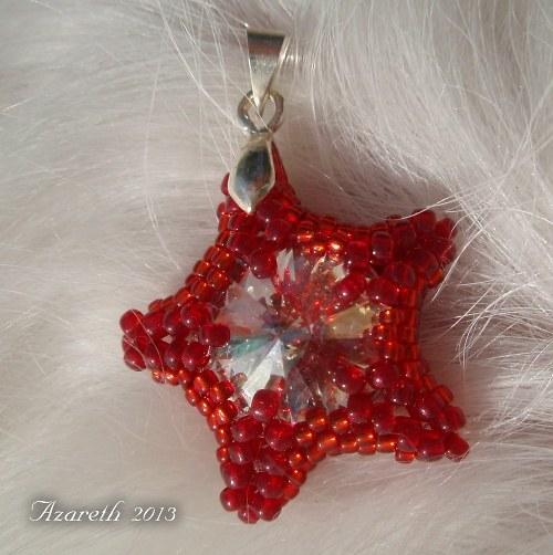 Červeno-bílá hvězda (přívěsek)