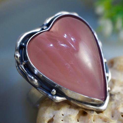 """Prsten \""""Něžnost\"""" - Růženín, stříbro Ag 925"""