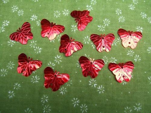 motýlci z metalové folie - dekorace - 10 kusů