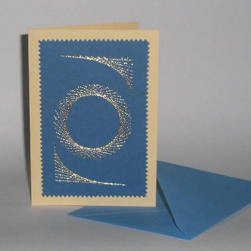 Ornament - modrý