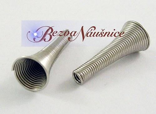Drátěná trumpetka - barva platina