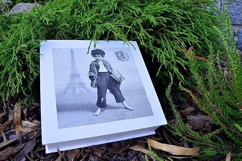 Krabička na čaj, šperkovnice - školáček v Paříži