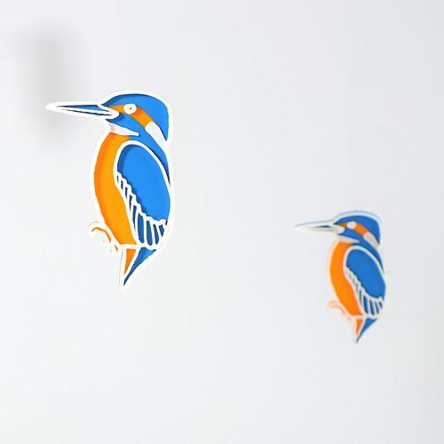 Ledňáček blue/orange/white