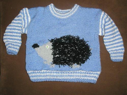 Dětský svetr s ježkem