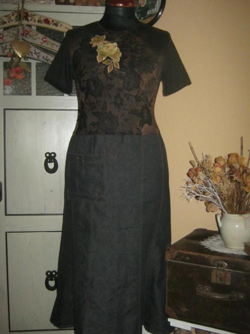 Šaty černé riflové SLEVA