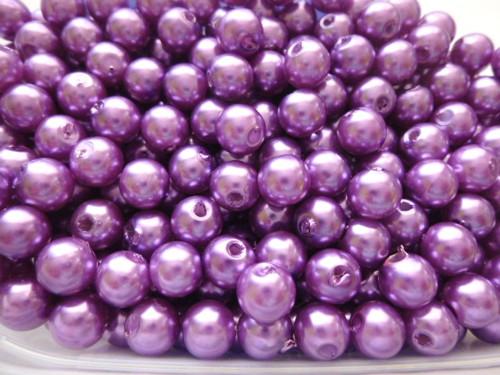 Akrylové perly světlefialové  8mm/30ks