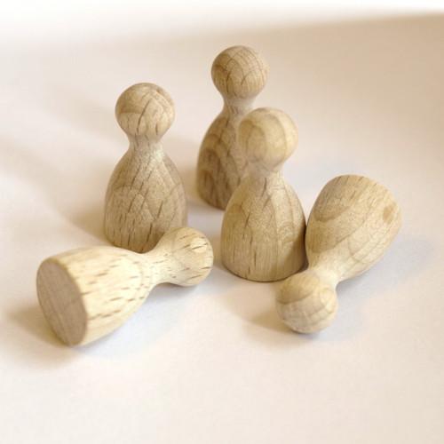 """Dřevěné Figurky Halma \"""" člověče nezlob se \""""  (6ks)"""