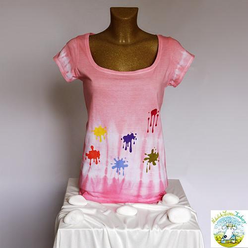 Malované tričko pro útulek Lesan, vel. menší L (M)
