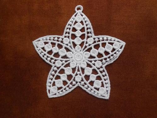 Vánoční ozdoba - sněhová vločka bílá AP1361006