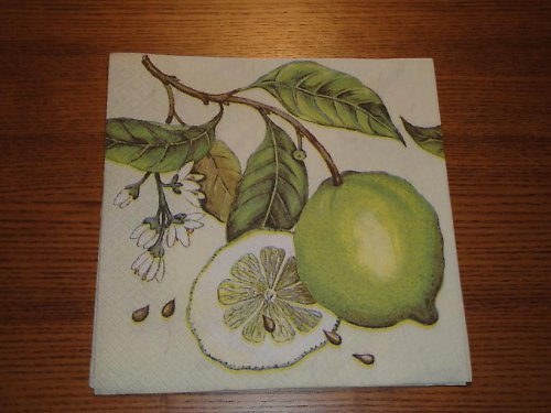 Ubrousek na decoupage - citrony