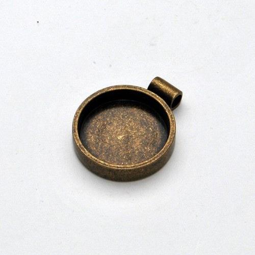 Kovový základ na přívěsek kolečko / zlatý