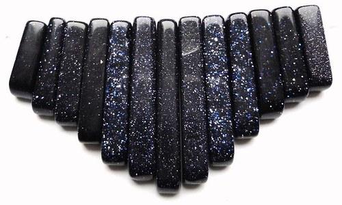 Minerál tmavě modrý aventurín - 13ks