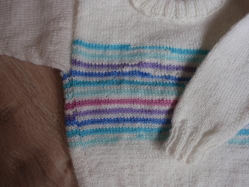Pletený svetřík bílý
