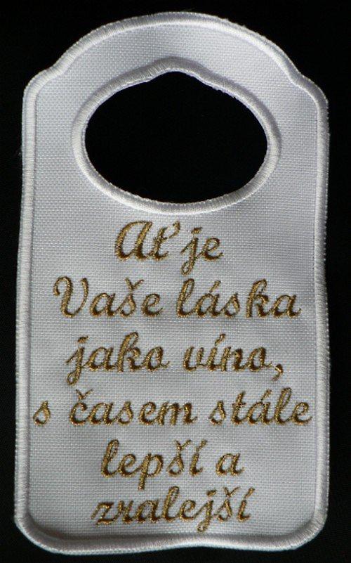 Visačka na lahev- Ať je Vaše láska..