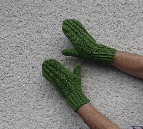 Pánské - zelené se dvěma copánky