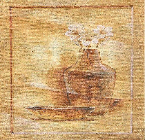 Reprodukce - tisk - Hnědá váza 15x15cm - 0169A