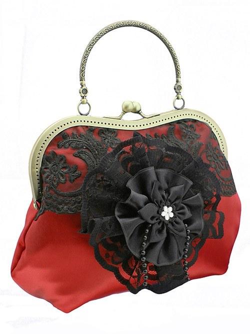 Dámská společenská kabelka červená   094A
