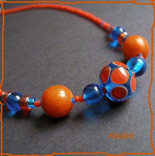 Tropics ... náhrdelník z vinutek, VÝPRODEJ z 210,-