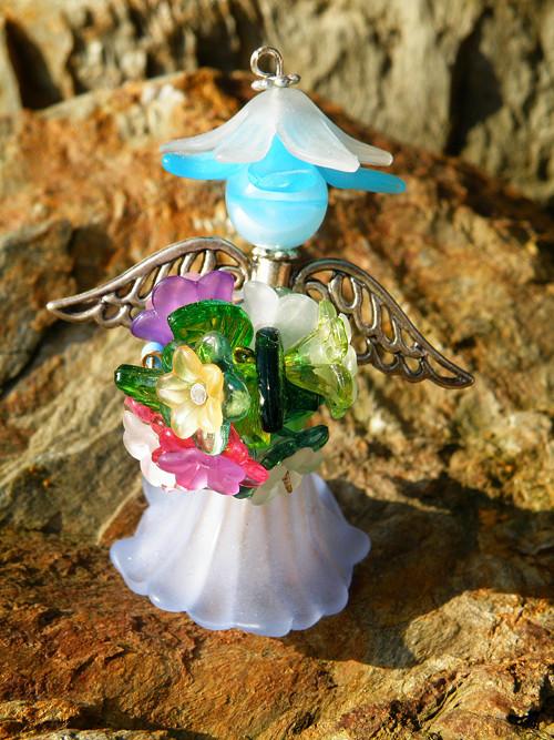 Hasička IV - víla modrá stojící - Fairy