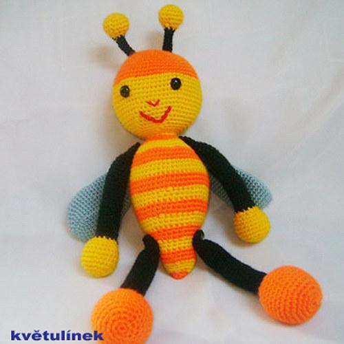 Návod na háčkovanou včelku