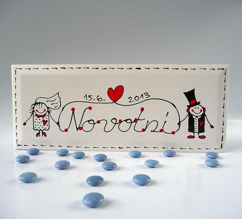 cedulka na dveře - svatební