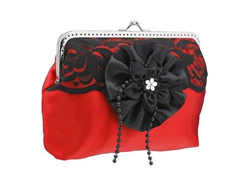 dámská společenská kabelka červená 1175A