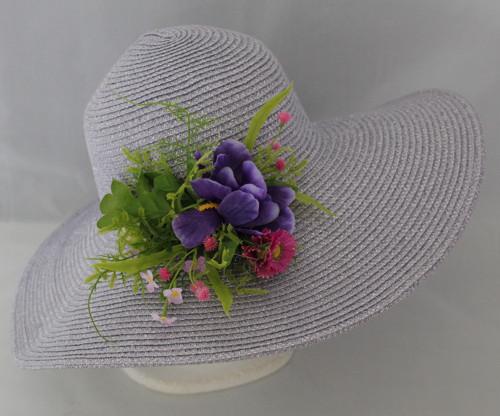 Dámský letní klobouk světle šeříkový