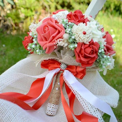 Svatební kytice Deborah a korsáž