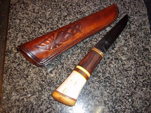 Kožené pouzdro na nůž - Skandinávie