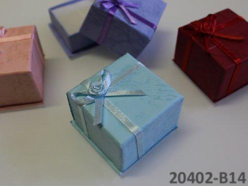 20402-B21 Dárková krabička na prstýnek, SV.MODRÁ