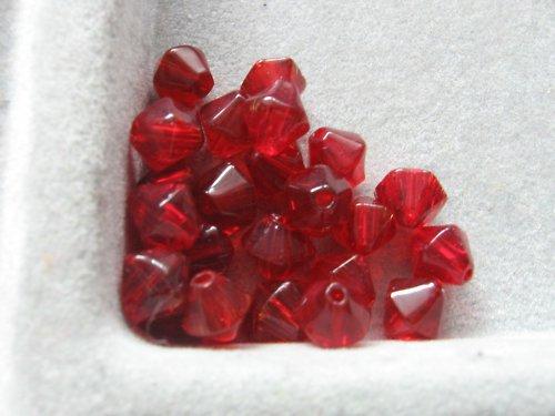 Sluníčka - červená 6 mm / 10 ks