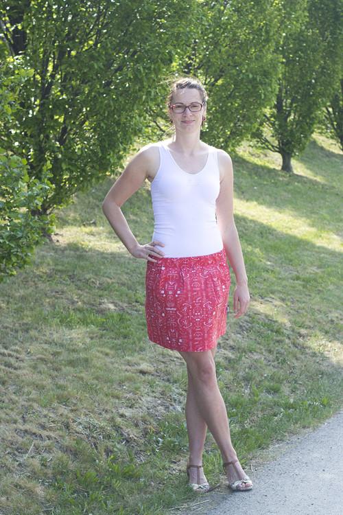 Sukně krátká folklor červený