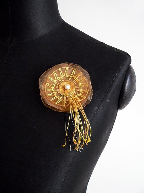 "Žluté mámení z kolekce \""Twenties\"" - SD-SA-022"