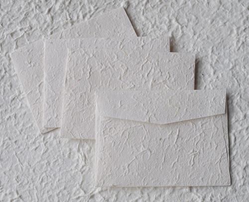 MINI obálky z ručního morušového papíru