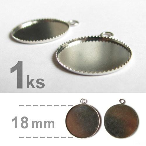 Lůžko - kruhové - zubatý okraj (18mm) - platina
