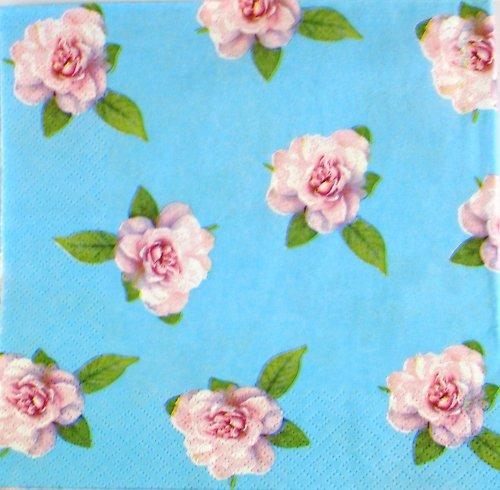 Ubrousek na decoupage - růžičky  33 x 33 cm