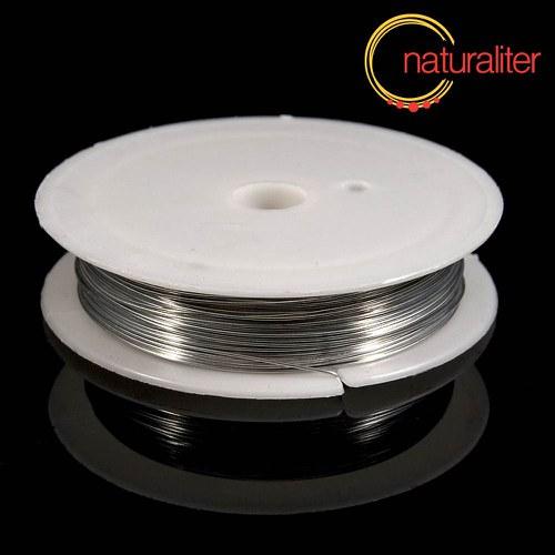 Mosazný drát 0,5mm, stříbrná barva, 9.5m