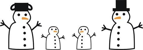 Mrázkovi - sněhuláččí rodinka na Vaši ledničku