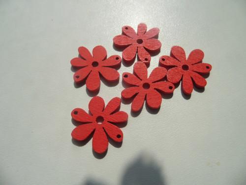 Dřevěný květ 20x25mm / 2ks/